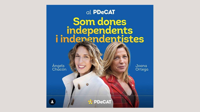 Àngels Chacón y Joana Ortega, de PDeCAT, sin lazo a la vista.