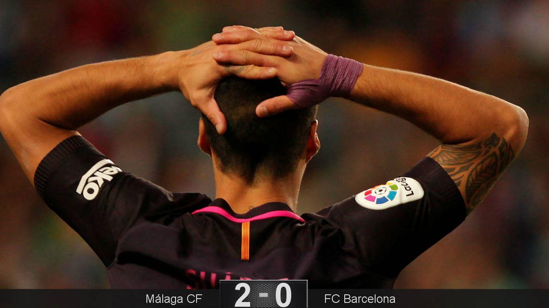 Monumental trompazo en Málaga de un Barça que no aprovecha el regalo del Real Madrid