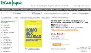 """Foto: El Corte Inglés retira un libro que habla de """"sanar"""" a los homosexuales"""