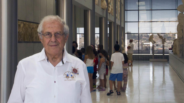 Dimitrios Pandermalis en el Museo de la Acrópolis