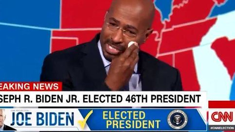 Un colaborador de la CNN se derrumba en directo tras la victoria de Joe Biden