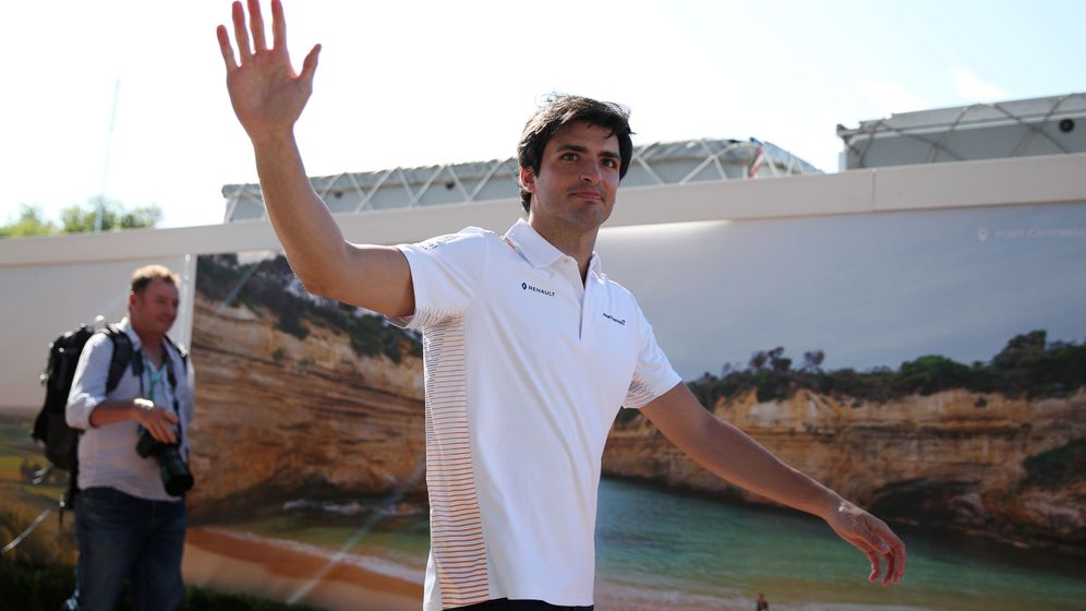 Foto: Carlos Sainz, en el pasado Gran Premio de Australia, finalmente cancelado (REUTERS)