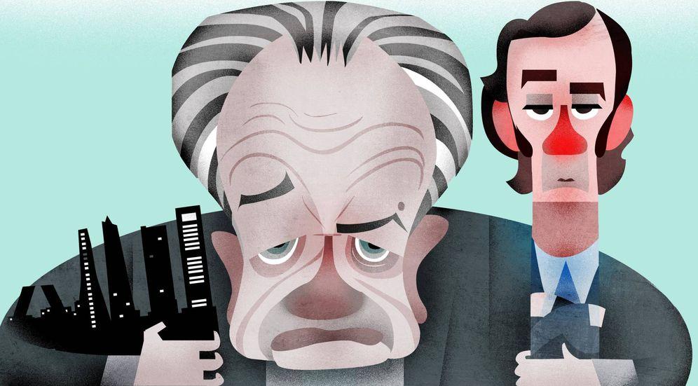 Foto: Ilustración de Juan Miguel Villar Mir y su hijo Juan Villar Mir. (Raul Arias)