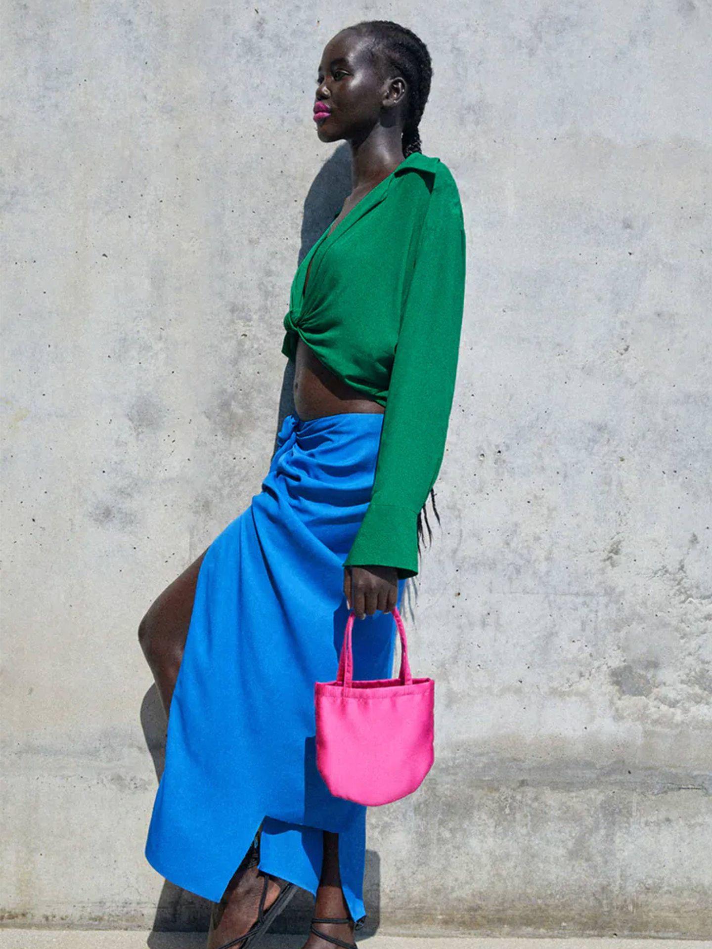 Falda pareo de Zara. (Cortesía)