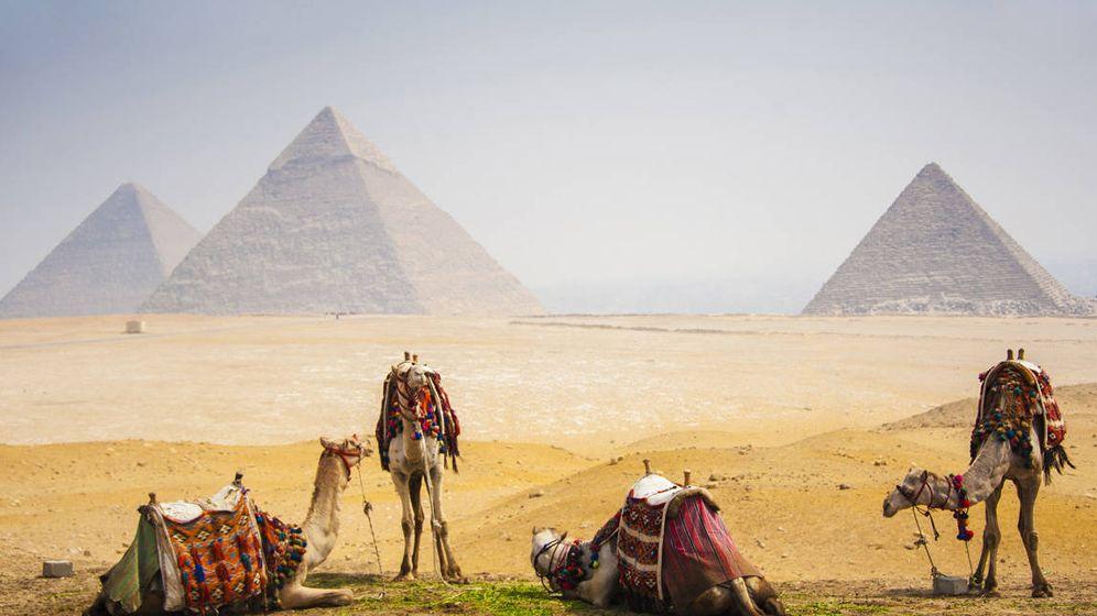 Foto: Pirámides de Gizah, en El Cairo (Egipto)