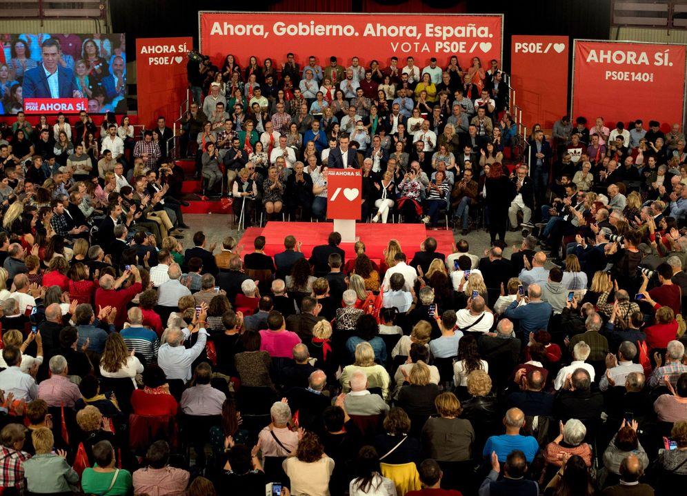 Foto: Pedro Sánchez, este 7 de noviembre, penúltimo día de campaña, en Castellón. (EFE)