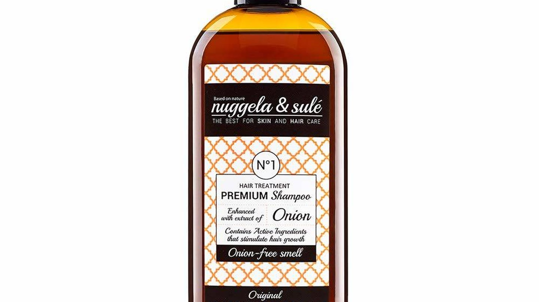 Shampoo Premium con extracto de cebolla de Nuggela y Sulé.