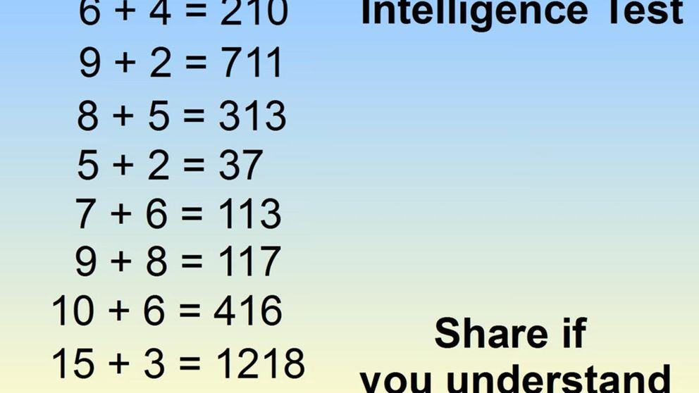 """¿Puedes resolver el """"test de inteligencia"""" que está arrasando? Y tiene truco"""