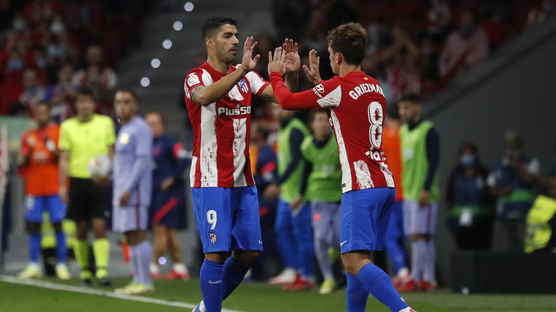 Griezmann, tras reemplazar a Suárez. (Reuters)