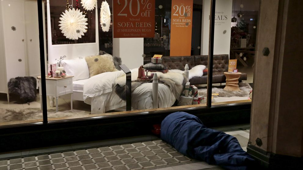 Los 'sin techo' en UK se duplican en cinco años