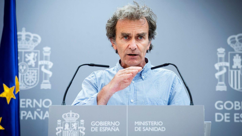 Fernando Simón, durante la rueda de prensa de este jueves en el Ministerio de Sanidad. (EFE)