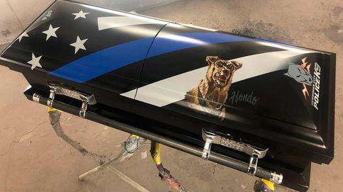 Perro policía murió en acto de servicio y será enterrado en una caja personalizada
