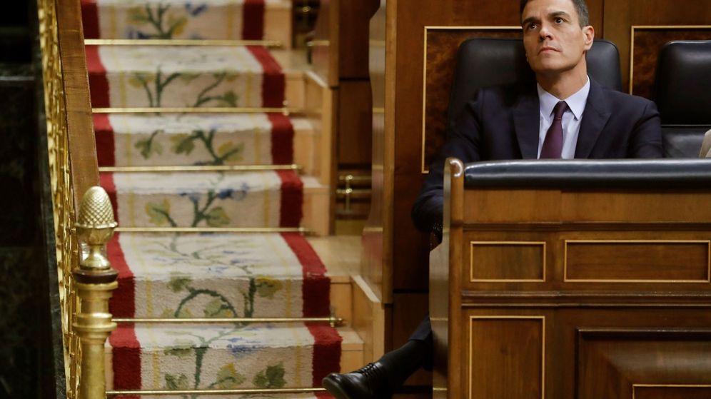 Foto: El presidente del Gobierno, Pedro Sánchez, durante el debate de Presupuestos en el Congreso. (EFE)