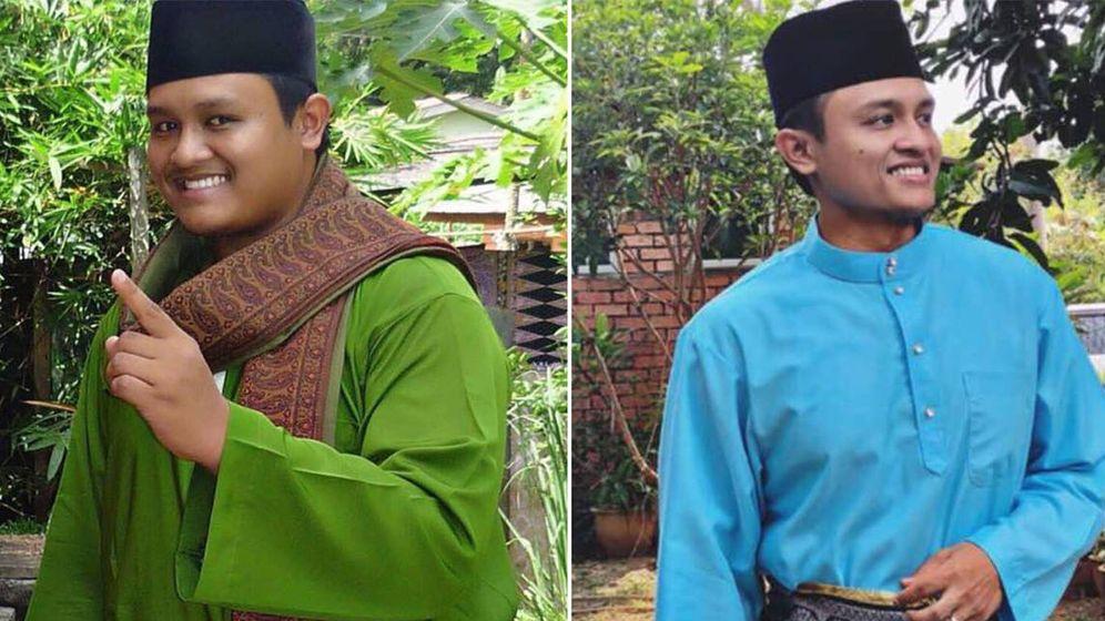 Foto: Arif Sukri y el ejemplo vivo de que se pueden adelgazar 40 kilos en tres meses (Foto: Facebook)