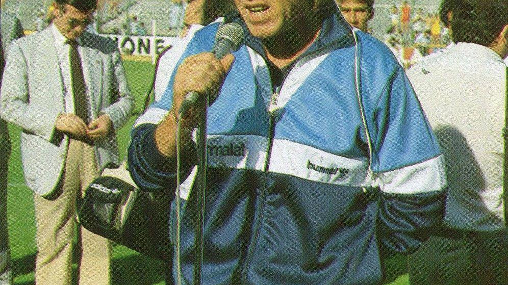 Foto: Leo Beenhakker en su etapa de entrenador del Real Madrid.