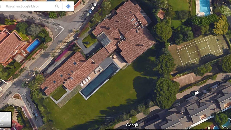 Vista aérea de la mansión de Andic en Ciudad Diagonal.