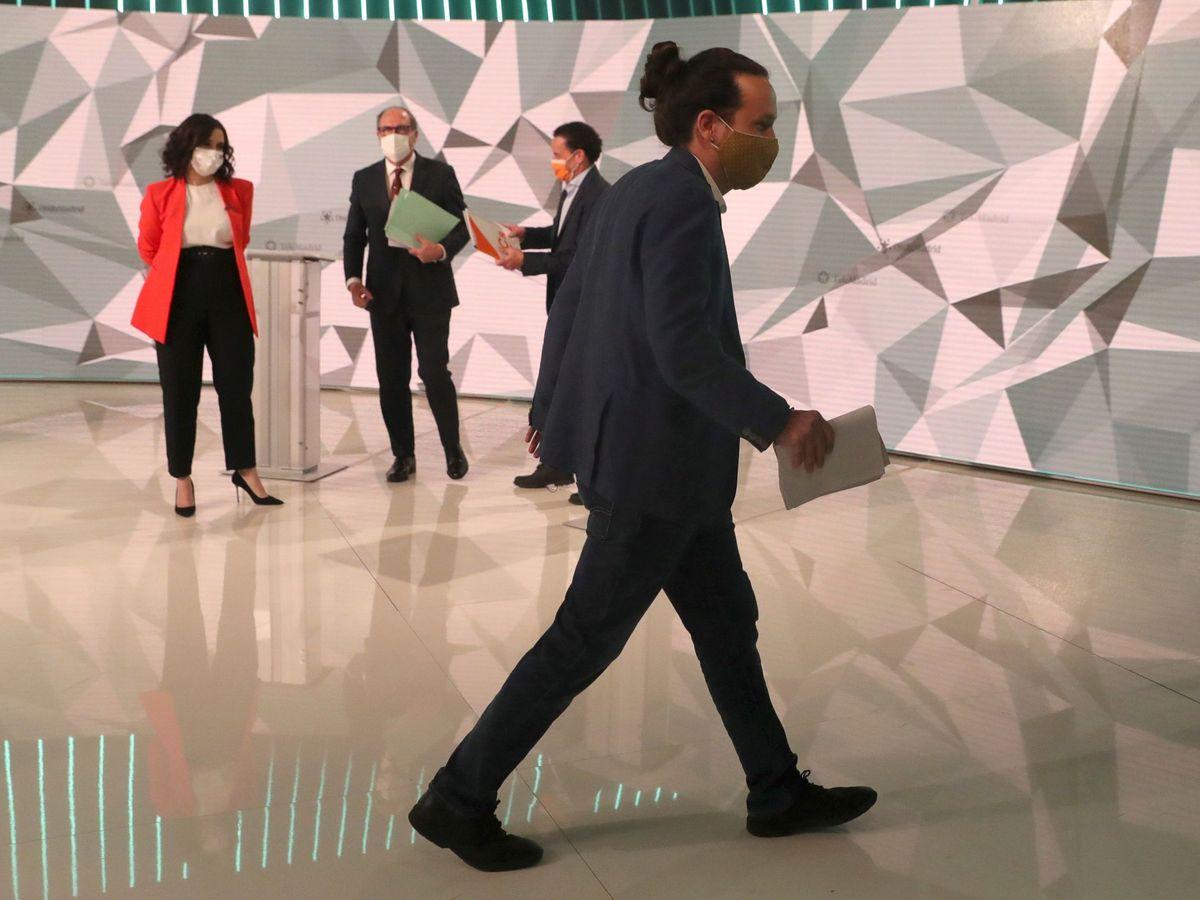 Foto: Debate electoral de los líderes de los principales partidos políticos madrileños. (EFE)