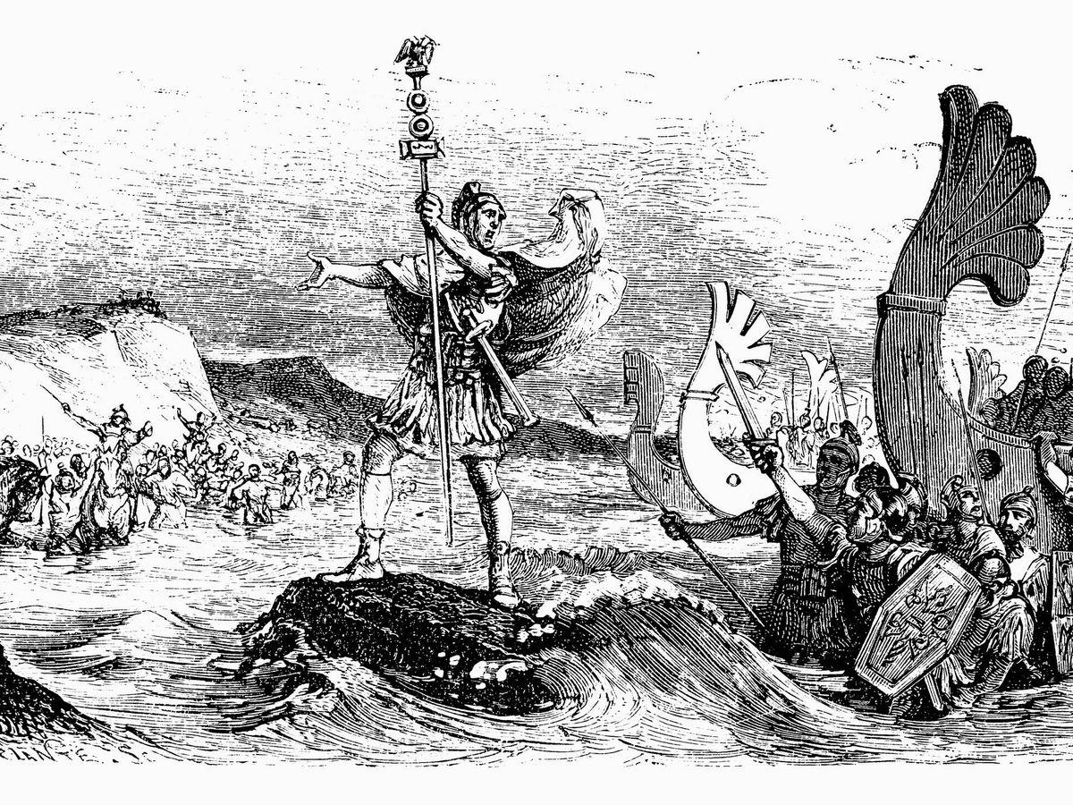 Foto: Ilustración del emperador Julio César (Fuente: iStock)