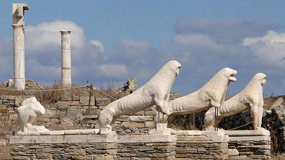 Foto: Leones de Delos. (IStock)
