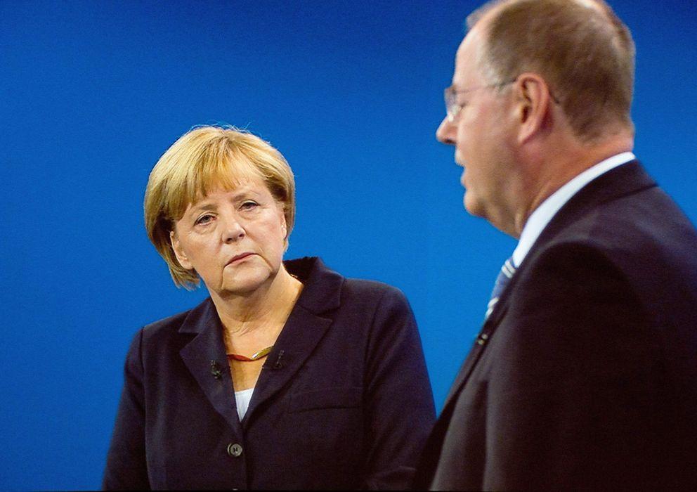 Foto: Imagen del debate entre Merkel y Steinbrueck. (EFE)