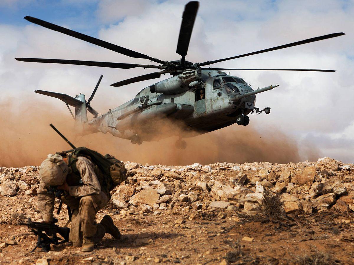 Foto: Marines estadounidenses, durante los ejercicios de 2018. (Africom)