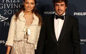 Fernando Alonso, el gran ausente en el 25 cumpleaños de Dasha Kapustina