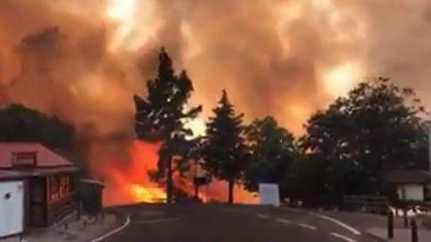 Un incendio arrasa el centro de la isla de Gran Canaria