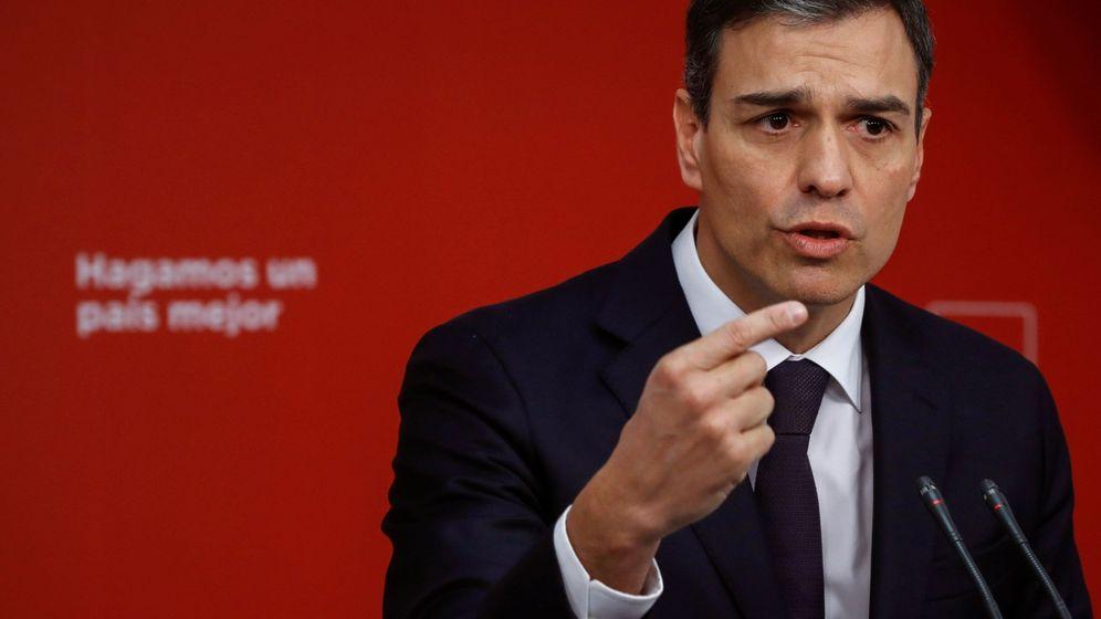 Foto: Pedro Sánchez en una rueda de prensa. (EFE)