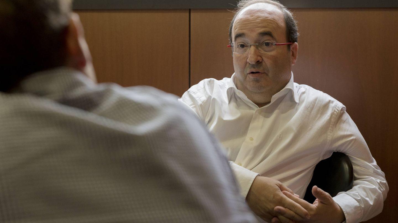 Miquel Iceta, durante una entrevista con El Confidencial el pasado 28 de septiembre en el Parlament de Catalunya. (Laura Gómez)