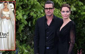 Los hijos de Angelina Jolie 'pintaron' su vestido de novia
