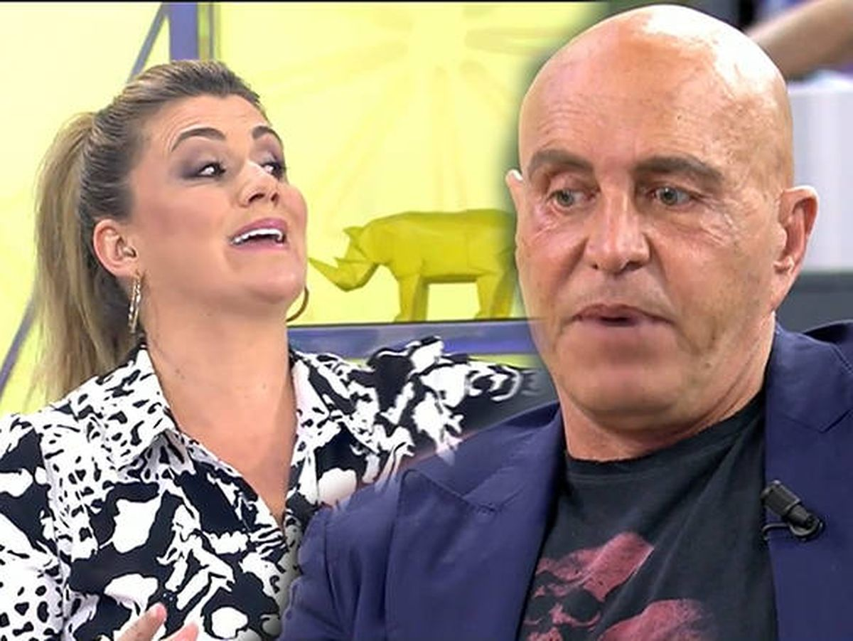 Foto: Carlota Corredera y Kiko Matamoros, en 'Sálvame'. (Mediaset)