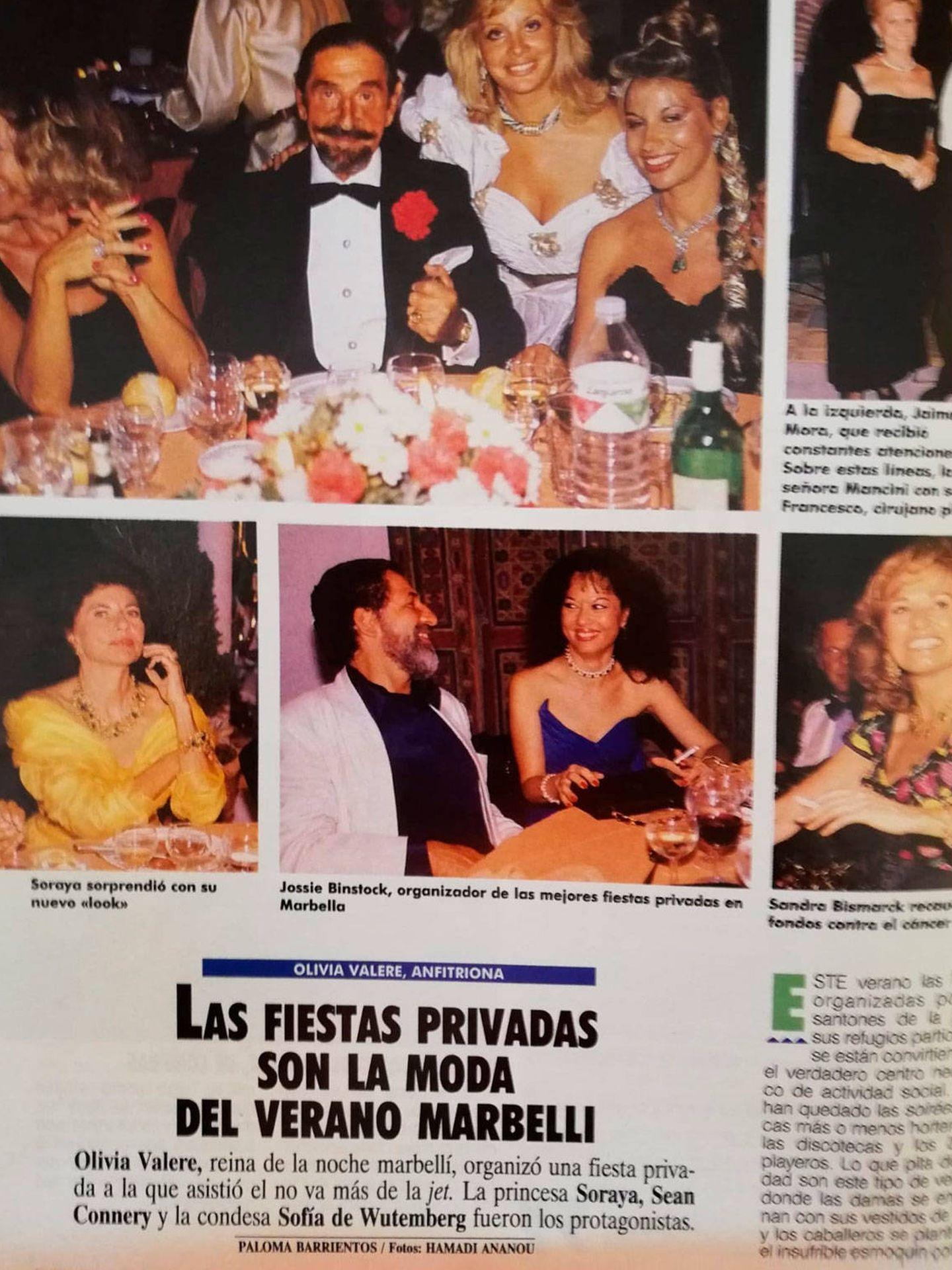 Los personajes de la Marbella de los 80. (Revista 'Tiempo')