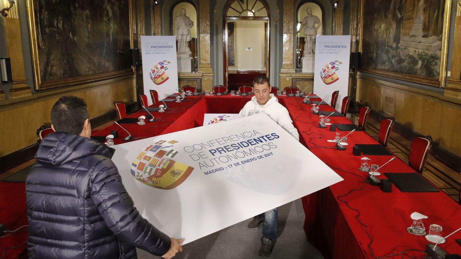Foto: Preparativos para la VI Conferencia de Presidentes. (EFE)