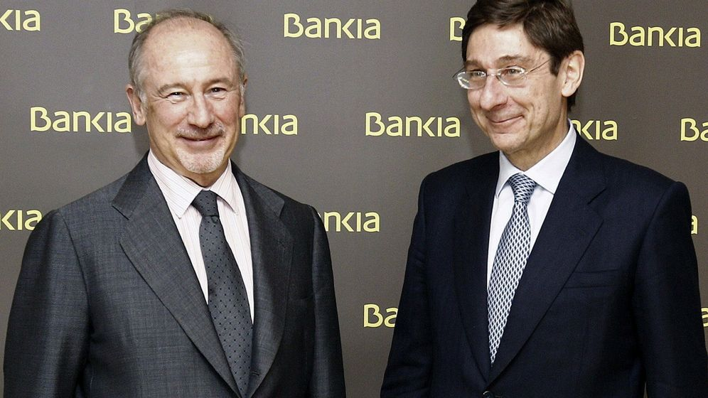 Foto: Rodrigo Rato y José Ignacio Goirigolzarri, en 2012. (EFE)