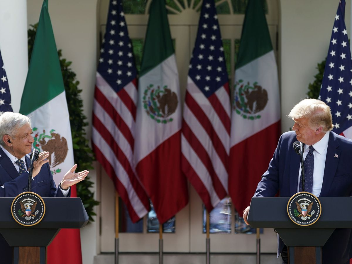 Foto: Trump y López Obrador, en la Casa Blanca. (Reuters)