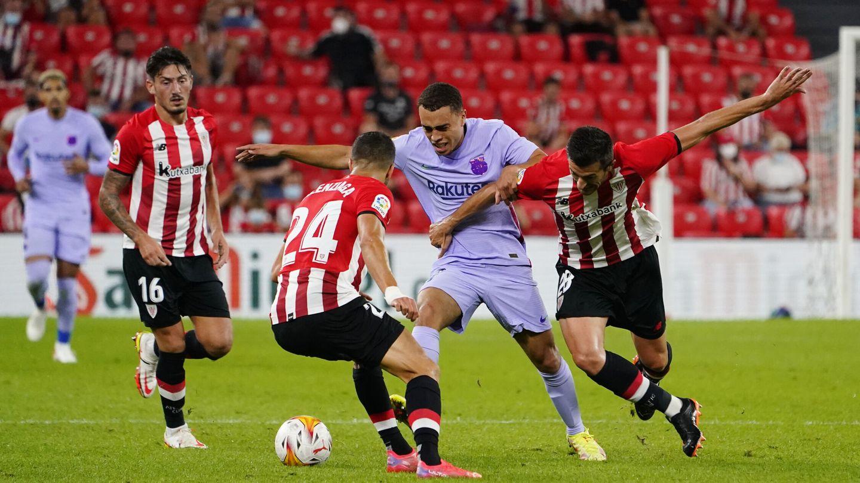 El Athletic estuvo fantástico en la presión sin balón. (Reuters)