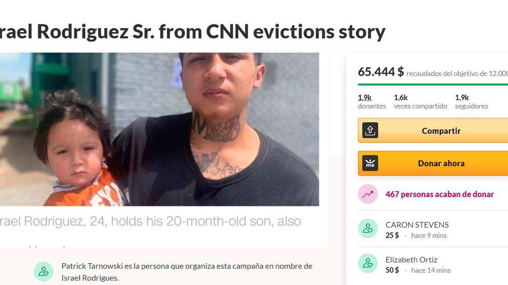 Foto: Una de las campañas de GoFundMe destinada a recaudar fondos para Israel Rodríguez y su familia