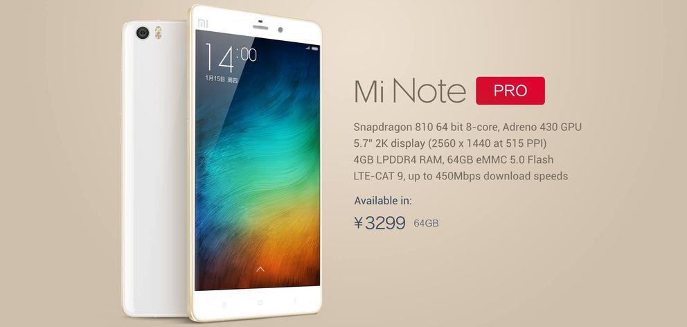 Foto: Xiaomi presenta su mejor 'smartphone' hasta la fecha: así es el Mi Note
