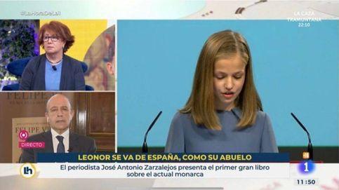 RTVE releva a los responsables de un polémico rótulo sobre la princesa Leonor y el emérito