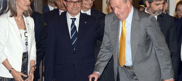 Foto: El rey Juan Carlos y Artur Mas. (Gtres)