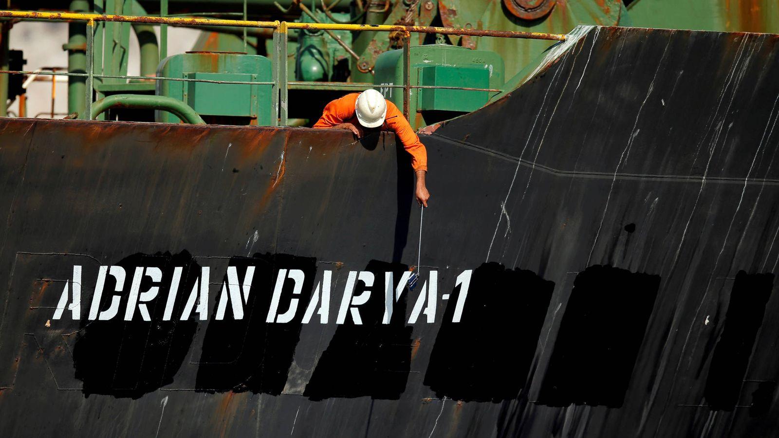 Foto: El petrolero iraní Grace 1, tras ser renombrado como Adrian Darya 1. (Reuters)