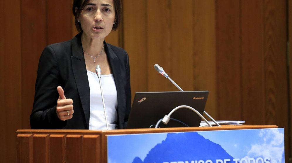 Foto: María Seguí en su intervención sobre el carné por puntos. EFE/Zipi