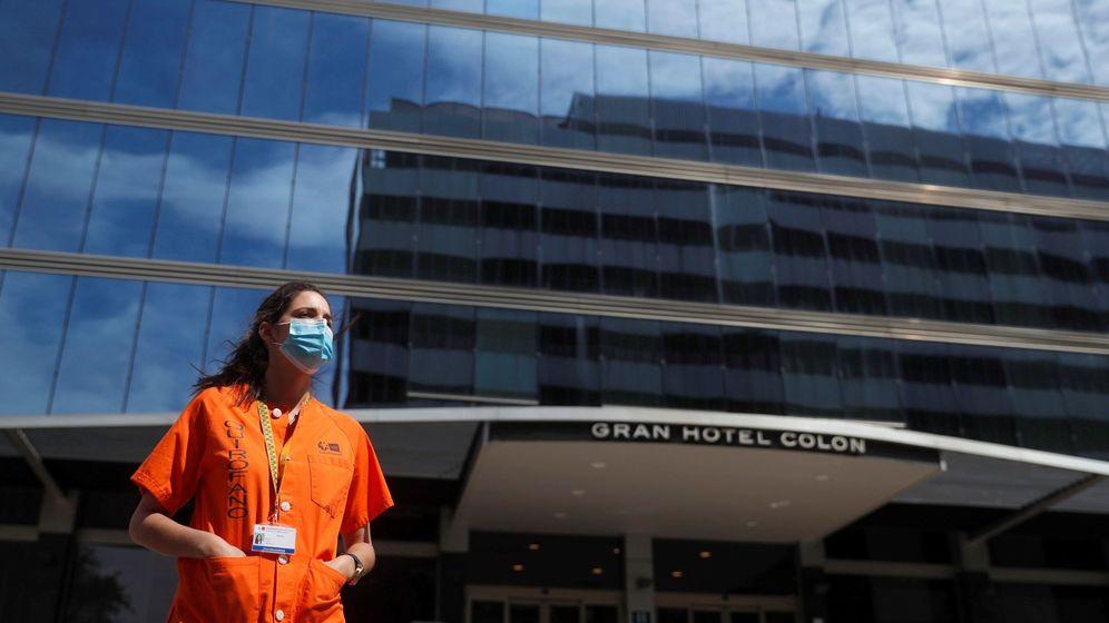 Foto: Mir en hotel medicalizado de Madrid en la primera ola de coronavirus. (EFE): no imaginaba esto tras meses encerrada estudiando