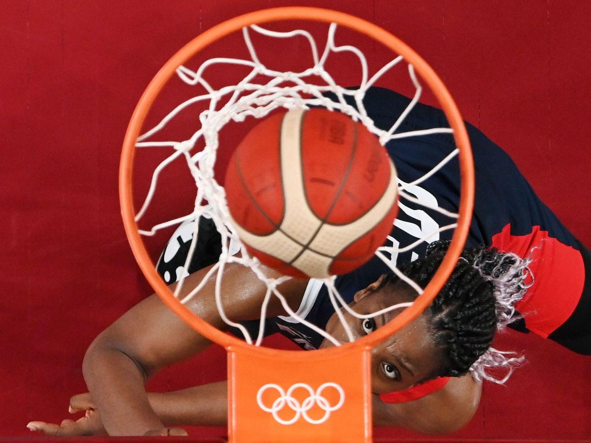 Foto: Endene Miyem (Francia), en los Juegos Olímpicos de Tokio 2020. (Reuters)