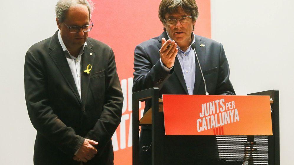 Foto: Quim Torra y Carles Puigdemont. (EFE)