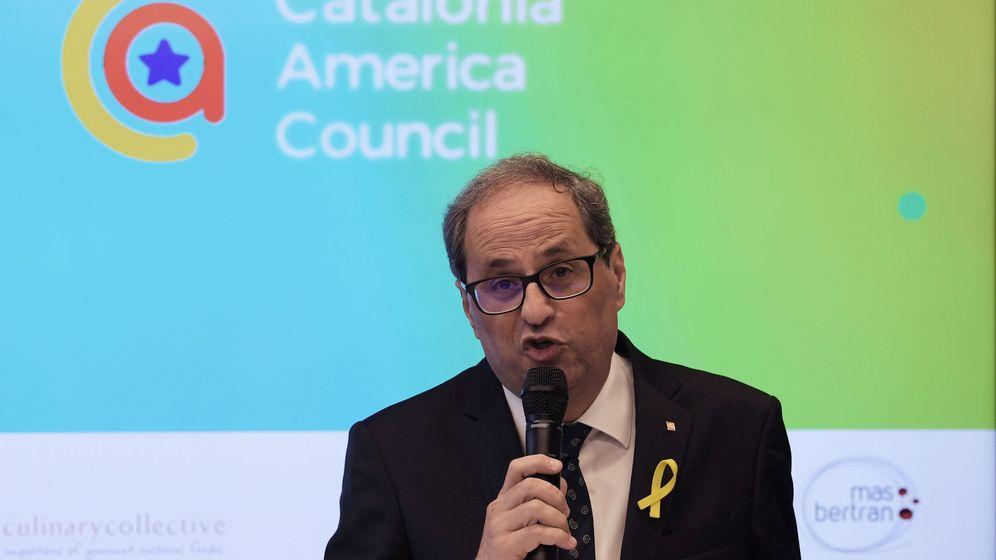 Foto: Quim Torra en la inauguración del Consejo Americano de Cataluña (CAC) este martes. (EFE)