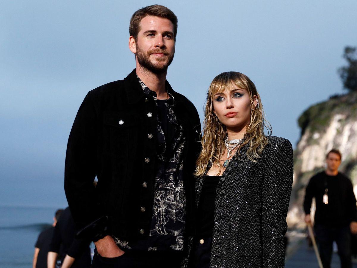 Foto: Liam Hemsworth y Miley Cyrus, en una imagen de archivo. (EFE)