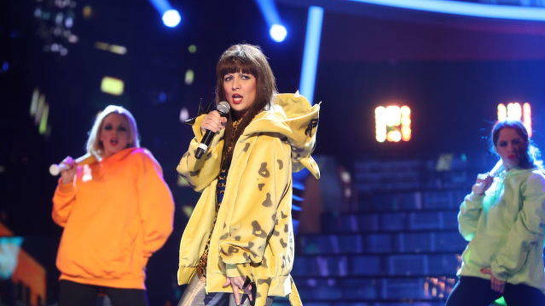 Lucía Jiménez en la segunda semifinal de 'Tu cara me suena'. (Antena 3)