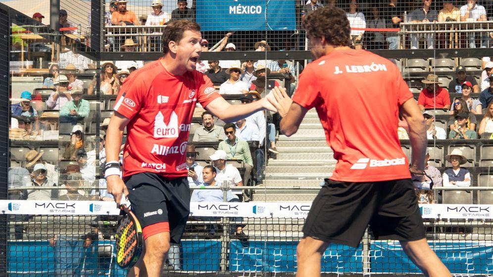 Foto: Paquito Navarro y Juan Lebrón celebrando un punto. (WPT)