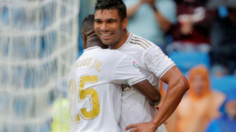 Casemiro, autor del tercer gol del Real Madrid al Levante. (Efe)